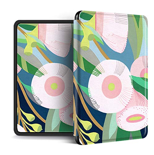 Funda para Kindle Paperwhite,Compatible con Kindle Paperwhite 4 Funda Trasera para Kindel Paperwhite 2019 Auto Sleep/Wake Smart Cover Flor De Planta Tropical Impresa, para No.J9G29R