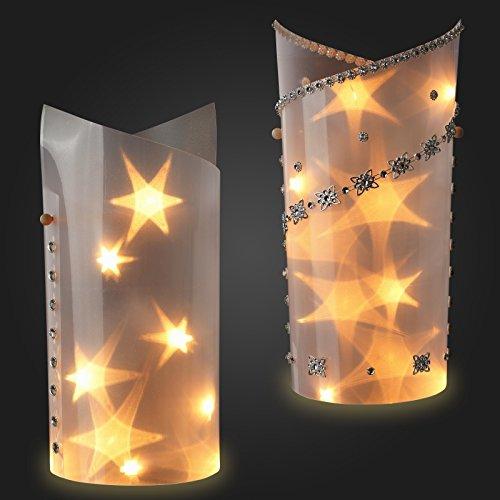 Sternentraum-Lampenfolie, spitz, 2 teilig, komplett, ohne Lichterkette
