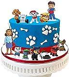 Muñecos patrulla canina,Caricatura Cake Topper/Mini Juego de Figuras, Topper de Tarta Decoración para Pasteles, Fiesta de Cumpleaños DIY Decoración Suministros(12PCS)