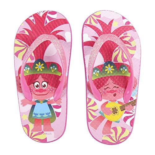 Trolls Mädchen Flip Flops Leichte Design, Urlaub Sandalen, Unglaubliche Sommerschuhe, Glitzer-Design, Geschenk für Mädchen, Größen EU 30/31