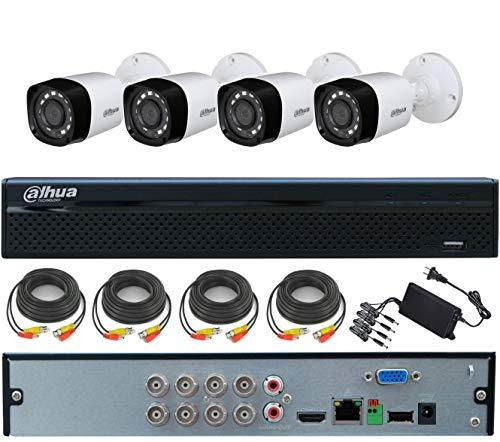 Kit de videovigilancia 4 cámaras 4 MP, XVR 8 canales 5 MP regalo cables y alimentador 4 salidas