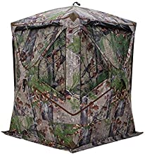 Barronett Blinds BL300BW Blockout 300 Ground Hunting Blind, 3 Person Pop Up Portable, Backwoods Camo