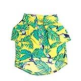 Amosfun Camisa Hawaiana del Perro Ropa del Perrito Ropa de Playa Colorida de la Playa del...