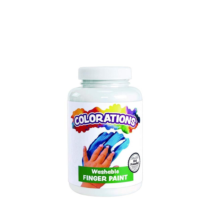 Colorations CWFWH Washable Finger Paint, White - 16 oz.