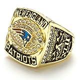 WSTYY Anillo de Campeonato de los New England Patriots 2007 Anillo de Campeonato para Hombres de Aficionados Memorial Collection,with Box,11
