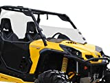 SuperATV Heavy Duty Clear Scratch Resistant Half Windshield for Can-Am Commander 800/1000 / Max (2011+) - Hard Coated for Extreme Durability and Long Life!