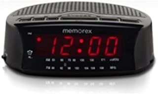 Memorex Am/fm Radio Large Red LED Display Alarm Clock (Black)