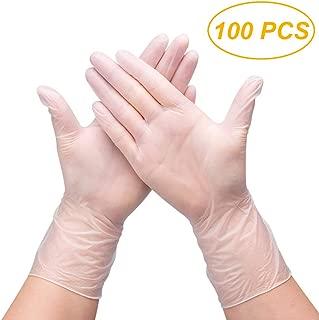 Accessoires de Cuisine Restaurant 50 // 100PCS de qualit/é Alimentaire /à Usage Unique en PVC Gants Gants en Plastique Anti-Statique for Le Nettoyage des Aliments Cuisiner NO LOGO L-Yune