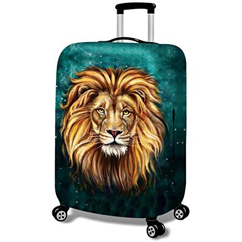 MISSMAO_FASHION2019 Kofferhülle Kofferschutzhülle Gepäck Cover Reisekoffer Hülle Koffer Schutzhülle,Muster Löwe und Leopard Löwe M(Fit 22-24 Zoll Koffer)