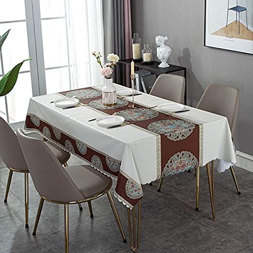 XXDD Mantel Rectangular Cuadrado Cubierta de Escritorio Mantel Impermeable decoración de Mesa Mantel Lavable a Prueba de Polvo A2 150x210cm