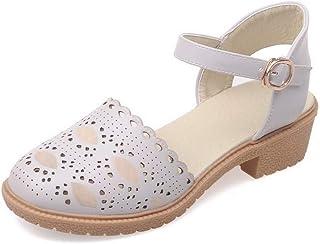 BalaMasa Womens ASL06070 Pu Block Heels
