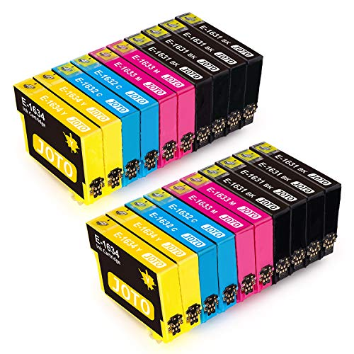 20 - JOTO 16XL Cartuchos de Tinta Reemplazo para EPSON 16 XL 16XL Alta Capacidad Compatible con Workforce WF-2630 WF WF-2510WF WF-2530WF WF-2650DWF WF-2760DWF WF-2630WF WF-2750DWF WF-2010W
