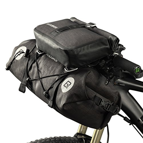 ROCKBROS Waterproof Handlebar Bags Bikepacking Bags Front 2 Dry Packs for MTB Road Bicycles Bikepacking Accessories 19-20L