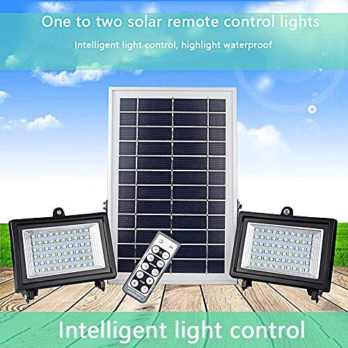 XAJGW 30 Luces solares LED, generación de Luces para Exteriores con Sensor de Movimiento, Panel Solar líder en la Industria, Luces de Seguridad 2 de Waterpoof Bright, Cabezal de Sensor mejo