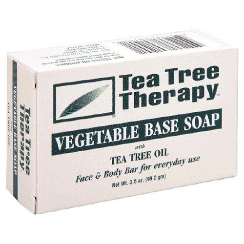 Tea Tree Therapy - Savon à base de légumes avec de l'huile d'arbre de thé - 3.9 oz.