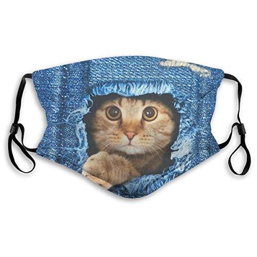 Traum Nice-Bag 3D Die Katze in Jeans Staubschutz Unisex Mundgürtel Filter Halloween Guard Anti Staubverschmutzung Gesicht Mundschutz