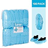 Sfee 100 Pack Shoe Covers-Disposable Hygienic, Non Slip, Durable, Recyclable,Boot & Shoes Cover