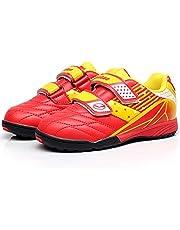 Jamron Tiebao Niños Guay Multicolor Bucle&Gancho Zapatos de Fútbol Fustal Zapatillas de Futbol Suelo Duro Césped Interior