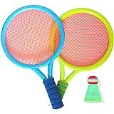 FENGXU Raqueta Juego de Raquetas de Bádminton para Niños con Pelota Ligero y Robusto Equipo de Entrenamiento de Tenis para Ocio Juguete Apto para Niños y Niñas de 3 a 12 Años