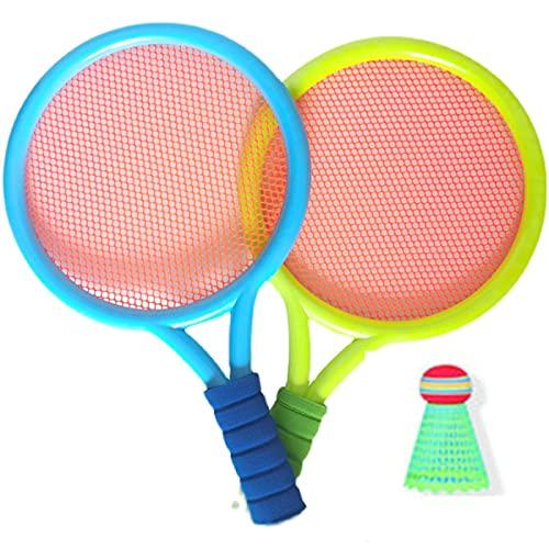 FENGXU 1 Set di Racchette da Badminton per Bambini,con 2 Racchette da 1 Volani,1 Palla da Tennis, Giochi da Allaperto Giardino per Ragazzi e Ragazze per Bambini da 3 a 12 Anni