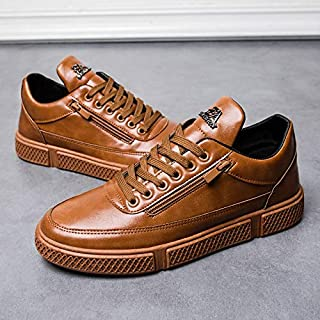 Men Casual Flat Leather Comfortable Shoes Man Outdoor Leisure Sneakers(one Size,Multi-Color)