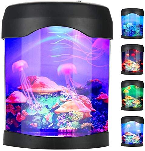 YIHGJJYP Acuario Equipo Accesorio Artificial Mini Tanque de Pescados del USB Medusas...