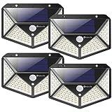 nuosife Solare per Esterni, Applique da Esterno, Luce Solare da Esterno, 100 LED, 3 Modalità di Lavoro, Illuminazione a 270 °, Wireless, Giardino Impermeabile IP65, Terrazza ecc.
