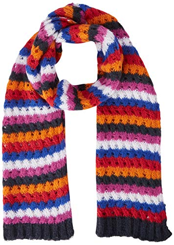 United Colors of Benetton Damen Sciarpa Righe Schal, Mehrfarbig (Viola/Blu/Bianco 904), One size (Herstellergröße: OS)