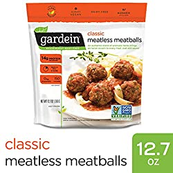 Gardein Classic Meatless Meatballs, Protein Packed Goodness, Ready in 8 Minutes, 12.7 Ounces (Frozen