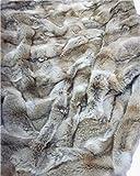 Moda Furs Genuine 100% Coyote Fur Blanket Throw Rug Bedspread 72' X 50'