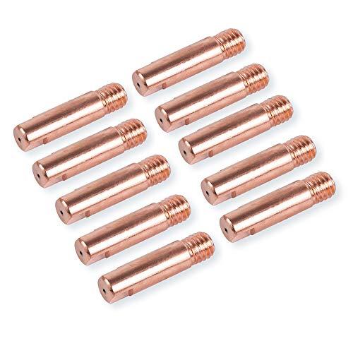 10 Stück 0,9 mm Stromdüsen Kontaktröhrchen für MIG/MAG Schweißgerät M6 x 25 mm