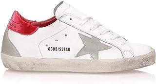 [ゴールデングース] GGDB [GOLDEN GOOSE DELUXE BRAND] レディース スーパースター レザー スニーカー RED VELVET CREAM SOLE White [並行輸入品]