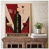 huayao Kalifornischer Wein Vintage Poster Bar Wandkunst