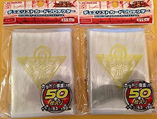 (100) YU-GI-OH Standard Size Millenium Puzzle Card Sleeves Transparent 100 Pcs 6390mm