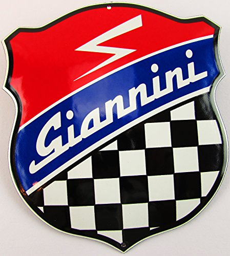 Nouveau Plaque Émaillée Gian Nini, 16,5 cm x 15 cm, Classic Publicité enseigne publicitaire ANNÉES 50 Life Style Rétro Fifties