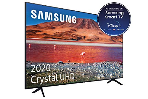 Samsung Crystal UHD 2020 75TU7005- Smart TV de 75  con Resolución 4K, HDR 10+, Crystal Display, Procesador 4K, PurColor, Sonido Inteligente, Función One Remote Control y Compatible Asistentes de Voz