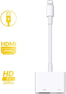 iPhone HDMI 変換 アダプタ ライトニング digital avアダプタ 設定不要 接続ケーブ Lightning HDMI ケーブル スマホ 高解像度 操作不要 ゲーム TV視聴 iPhoneX/XR/XS/XS Max/8/8plus/7/7plus(IOS12対応) …
