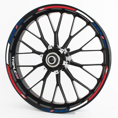 Motoking Adhesivos para Llantas RS - Triple - Juego Completo para 15'16' 17'18' 19'