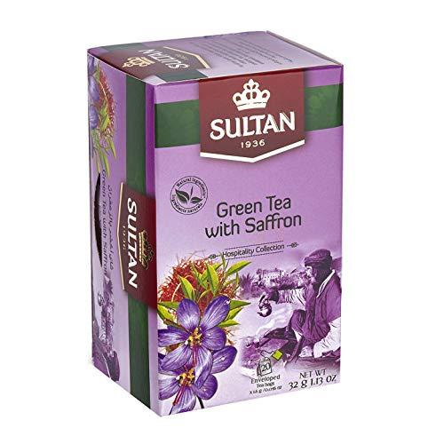 SULTAN TEA Marokkanischer Grüntee mit Safran Kräutertees (Einzelpackung - 20 Teebeutel)
