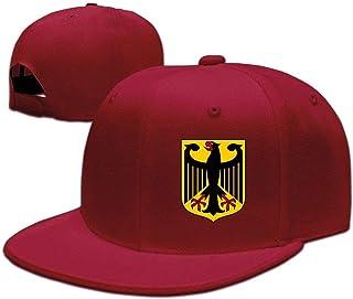 FGHJKL Coat of Arms of Germany Interesting Style Adjustable Snapback Baseball Caps Hip-Hop Cap Flat Bill Cap