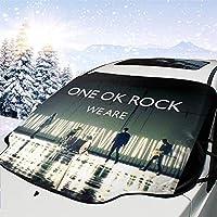 ワンオケロック ワンオケ One Ok Rock Oor 車用 雪対策 凍結防止 車凍結防止カバー フロントガラス雪 車窓日よけ シートフロントガラス 車フロントガラスカバー サンシェード フロントカバー カバー 日よけ 遮光 断熱 防水 四季対応