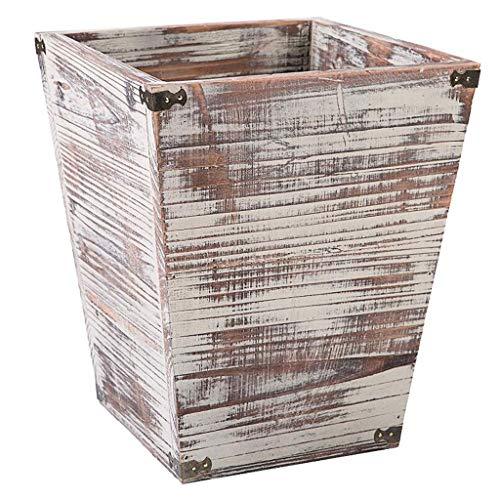 LUAN Cubos de Basura Papelera de Madera Papelera for el Dormitorio Dormitorio Oficina Restaurante Cocina Papelera Papelera de Reciclaje Marrón Papelera de Reciclaje Papelera (tamaño : B)