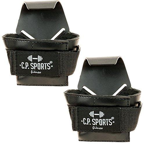 C.P. Sports 38735 Hot Gripper - Ganci per Sollevamento Pesi, Taglia Unica, Colore: Nero