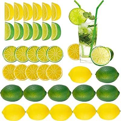 Amazon - 50% Off on 36 Pack Artificial Lemon Limes Blocks Slices Kits- 12pcs Vivid Lemon+ 12pcs