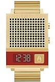 Nixon The DORK Too Reloj para Hombre Digital de Cuarzo con Brazalete de Acero Inoxidable bañado en Oro A1266502