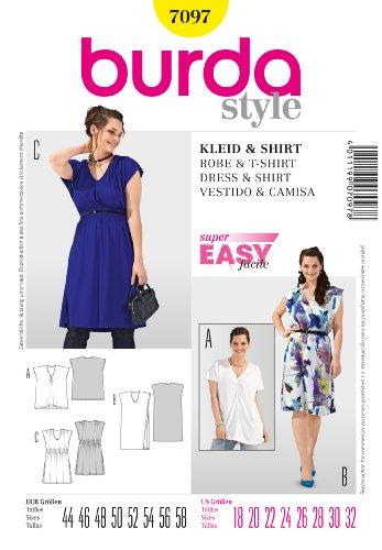 Burda patroon jurk/shirt met V-hals