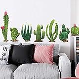 Adhesivos de pared Calcomanías de pared, Calcomanías de pared de cactus tropicales Calcomanías de pared para pasillos de guardería, Arte DIY Decoración para el hogar Calcomanías de pared Murales-A