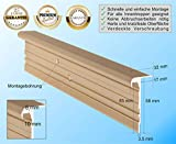 RenoProfil 150 cm Treppenprofil MULTIVERSAL-32 für alle Bodenbeläge von 6-22 mm - Treppenkantenprofil für Treppenverkleidung und Treppenrenovierung - Farbe: Messing-Sand