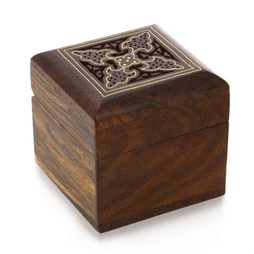 Schmuckkästchen Ringe Manschettenknöpfe Ohrringe Ringe Toe Box aus Holz für Kleine Schmuck Weihnachtsgeschenke