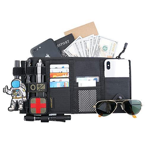 VIPERADE TCS1 Car Sun Visor Organizer, Truck Visor Organizer, MOLLE Tactical Visor Organizer Auto Accessories Document Holder Sunglass Insurance Storage Pouch Organizer (Black)